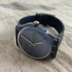 ⌚ Swatch Navy blue and Green watch
